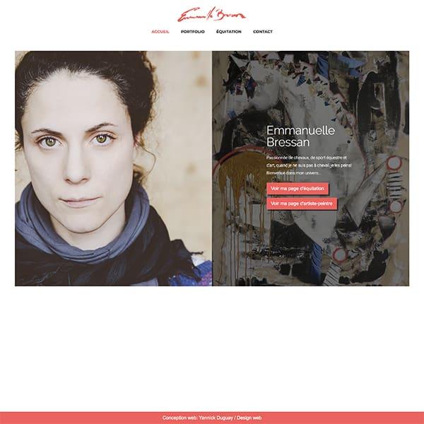 Site web de Emmanuelle Bressan