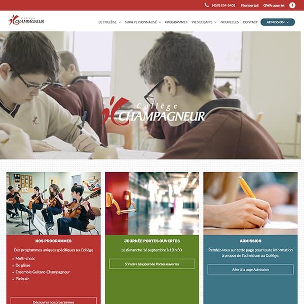 Site web du collège Champagneur