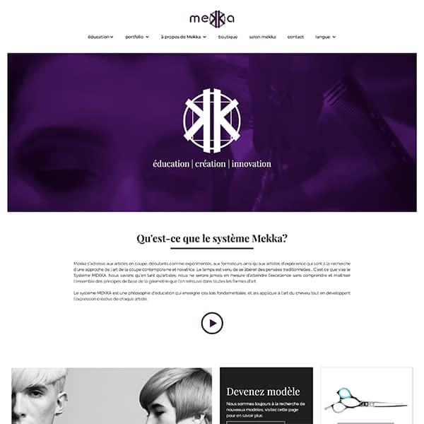 Site web de Mekka, académie de coiffure