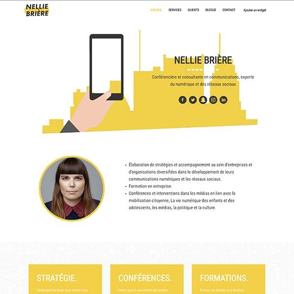 Site web de Nellie Brière