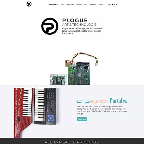 Site web de Plogue Audio & Technologie