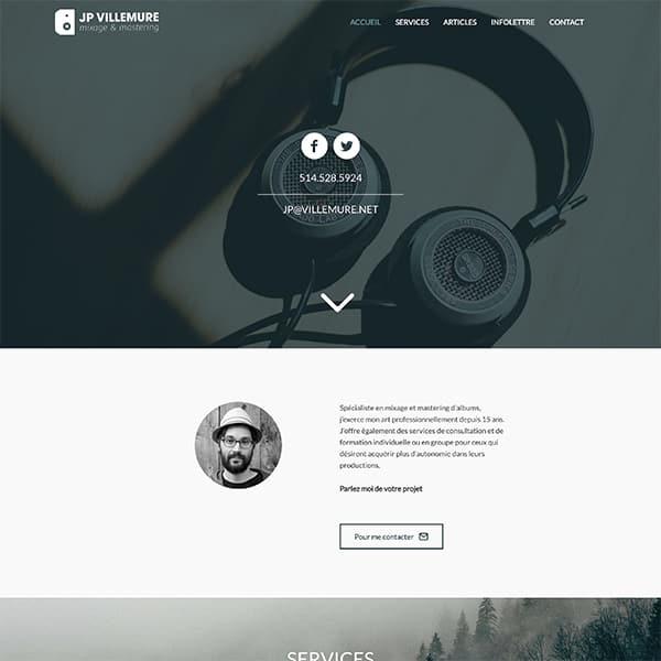 Site web de JP Villemure
