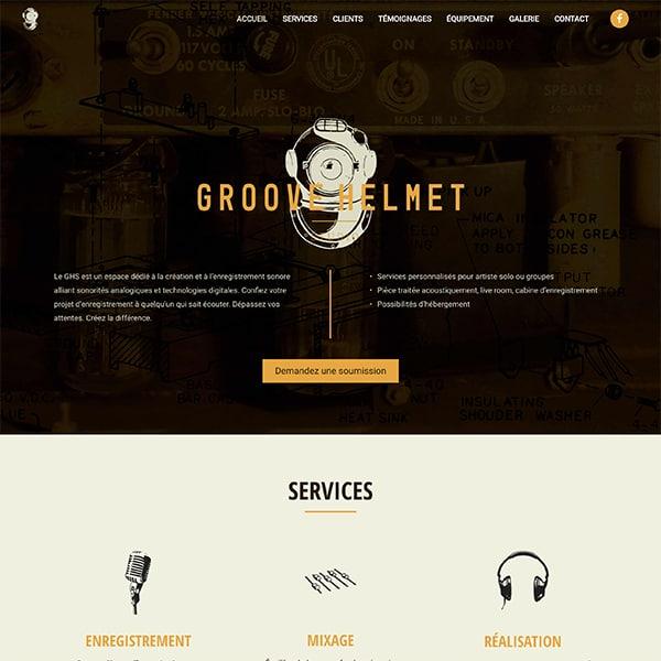 Site web de Groove Helmet Studio