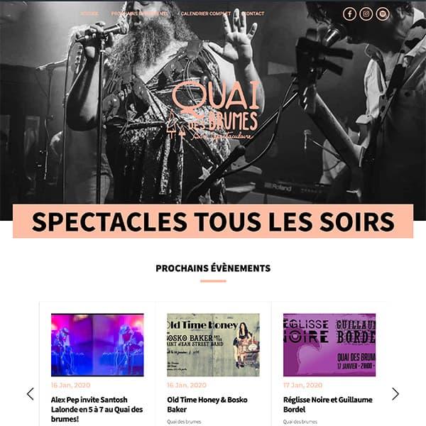 Site web du Quai des brumes
